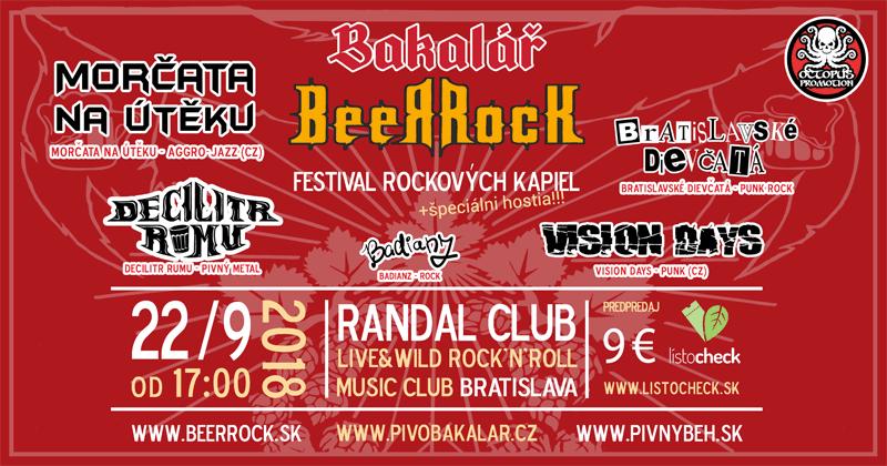 Festival Bakalář BeerRock - 22.9.2018 RANDAL Bratislava